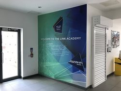 Internal wall branding for each Academy