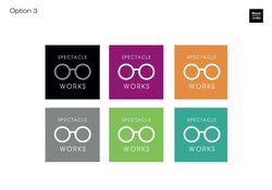 Spectacle Works logo development 3